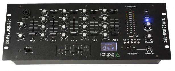 Table de mixage avec fonction enregistrement Ibiza DJM95USB REC