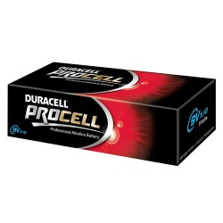 PACK 10 X PILES 9 VOLTS Duracell Procell