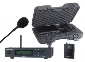 Micro sans fil cravatte avec malette Audiophony UHF410 LAVA