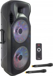 "Enceinte portable 2x15"" Ibiza PARTY215LED"