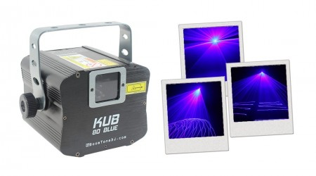 Laser Bleu BoomTone DJ KUB 80 Blue