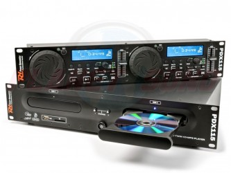 Double lecteur CD/SD/USB/Mp3 Power Dynamics PDX115