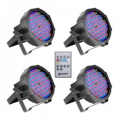 Pack 4 Projecteur à led Cameo FLAT PAR CAN RGB 10 IR SET