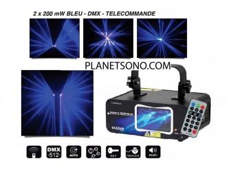 Laser double faisceau Bleu Dune Double scan Blue