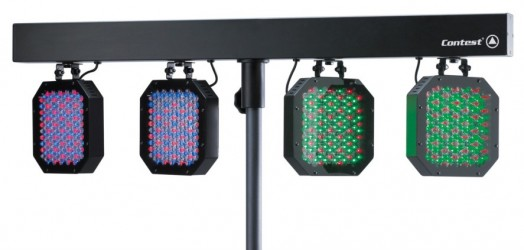Barre DMX de 4 projecteurs à LEDs Contest LED 4 STAGE