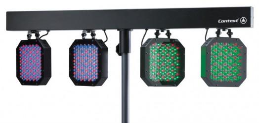Barre DMX de 4 projecteurs à LEDs Contest LED 4 STAGE