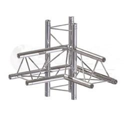 Global Truss Structure série F33 - Angle F33C45 Croix 4D 50cm
