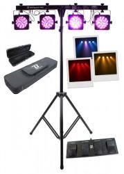 Pack complet de 4 projecteurs Slim à LEDs BoomToneDJ Par System RGB