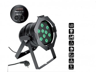 PROJECTEUR PAR 56 LED CAMEO LED 3 W  NOIR / CHROME