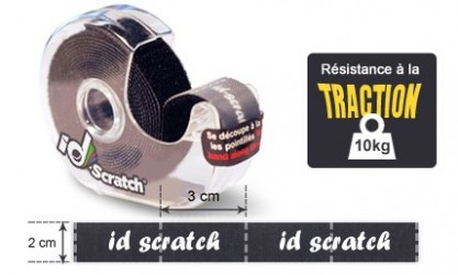 Rouleau velcro scratch 2.5m de long IDSCRATCH
