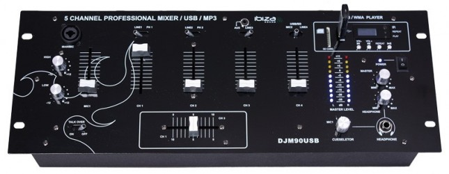 Table de Mixage Ibiza Djm 90 Usb + Bluetooth