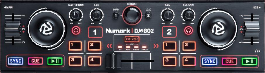 Contrôleur DJ USB Numark Dj2Go2