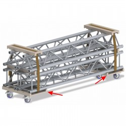 Charriot pour structure 290 Briteq Trolley base