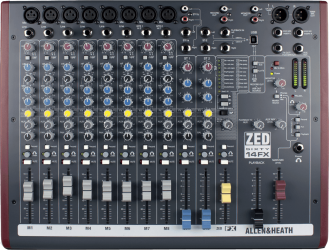 Table de mixage Allen & Heath ZED60 14 FX