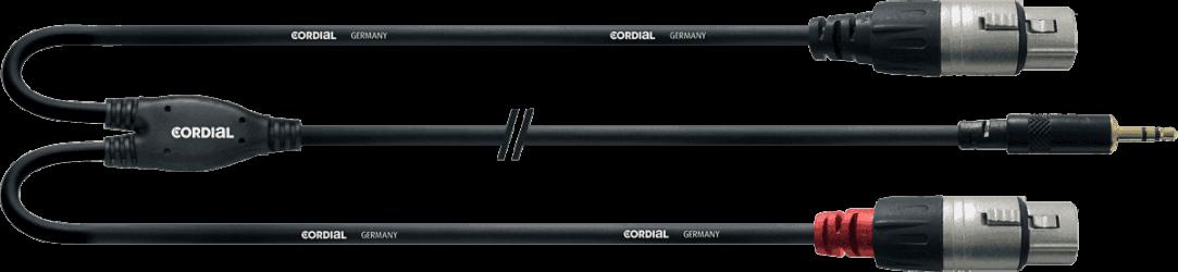 CABLE Cordial XLR M /Mini jack Rean CFY3WMM