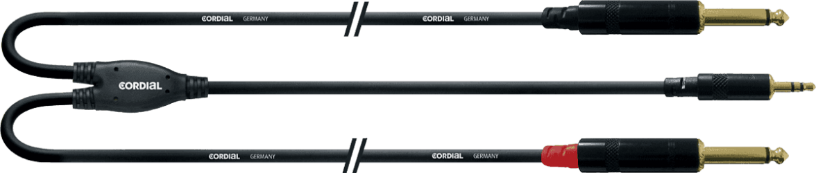 CABLE Cordial 2JACK/Mini jack Rean 1.5M