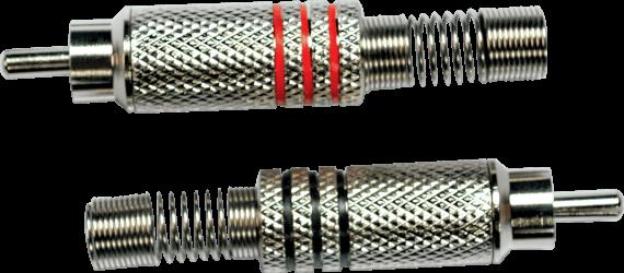 Fiche RCA mâle nickel ( la paire )