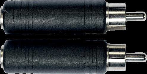 Adaptateur JACK 6.35 FEMELLE / RCA MALE ( la paire )