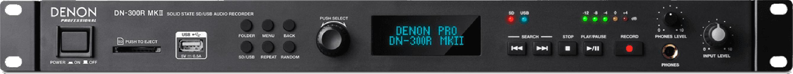 Enregistreur SD/USB profesionnel Denon DN300RMKII