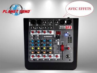 Location Console de mixage 4 voies avec effets ZED6FX