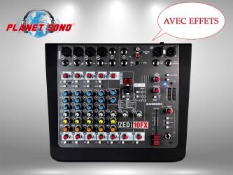 Location Console de mixage  8 voies avec effets ZED10FX