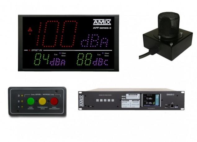 Limiteur à bandes d'octave AMIX SNA70-3R+ AFF17