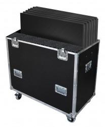 Flight-case pour 6 PLTL-1x1 avec pieds FLY6PLTL1