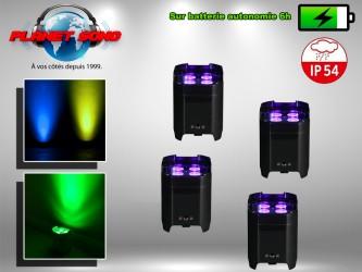 Location pack projecteurs à leds sur batterie étanche x4