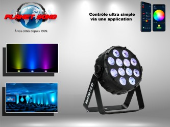 Location Projecteur à led 12x2.5 watts