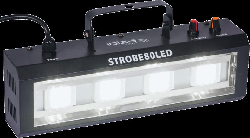 STROBOSCOPE A LED 4 x 20W IBIZA STROBE 80LED