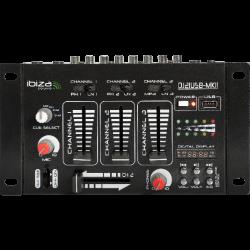 Table de mixage 3 voies + USB Ibiza DJ21USB MK2