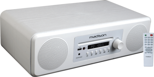 Enceinte de table bluetooth/ CD / FM Madison MELODYWH