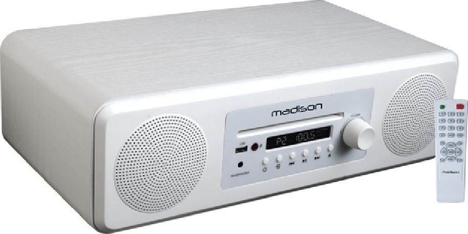 Enceinte de table bluetooth/ CD / FM Madison MELODYWH