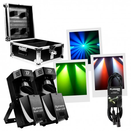 Pack Scan à leds Boomtone Dj DYMANO Pack Occasion