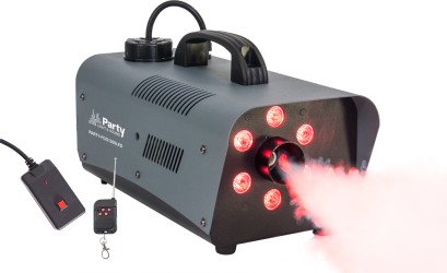 MACHINE A FUMEE AVEC 6 LED RVB PARTY-FOG 1200 LED