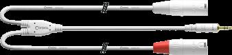 CABLE Cordial XLR M/Mini jack REAN Blanc CFY6WMM-LONG-SNOW