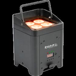 Projecteur PAR sur batterie Ibiza BOX HEX4