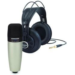 Pack microphone studio & casque Samson C01/SR850