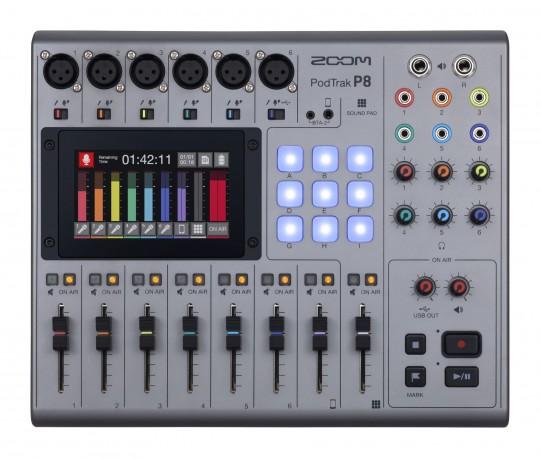 Console de mixage Podcast Zoom PodTrack P8