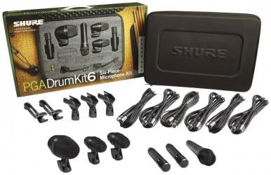 Kit micros batterie Shure PGA DRUMKIT 6