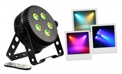 Projecteur à led BoomtoneDj SILENTPAR 5x3 3in1