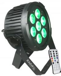Projecteur à leds + télécommande Afx Light PARLED712IR