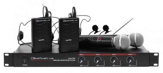 Micros sans fil BoomToneDJ VHF QUATTRO MHL