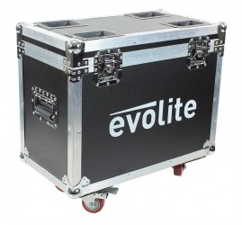 Flightcase eclairage Evolite FC Twin 19x12Z