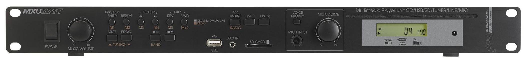 Lecteur mixer Tuner Audiophony MXU230T