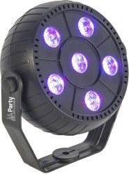 Projecteur à Leds 6 x 1,5W RGB 3-en-1 PARTY PAR6