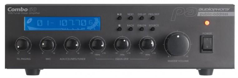 Amplificateur ligne 100v AUDIOPHONY COMBO60