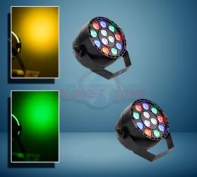 Pack 2 projecteurs à leds 12x1 RVB  MINIRGB2
