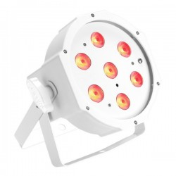 Projecteur à led CAMEO blanc 7 leds de 3W - Télécommande infrarouge
