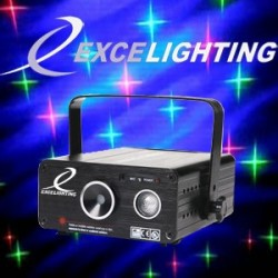 Laser Multipoint + led  Excelighting Falling Star 4